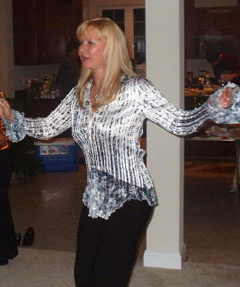 Marina L.dancing at the party