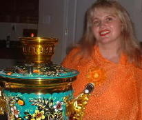 Maria with Russian Samovar